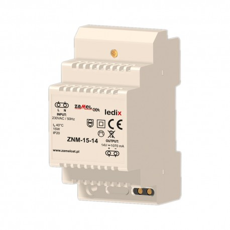 Modular Netzteil LED-Trafo Konverter 15W 14V ZNM-15-14