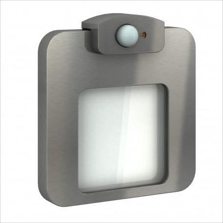 LED MOZA mit Bewegungssensor Edelstahl 14V Kaltweiß 0,78W