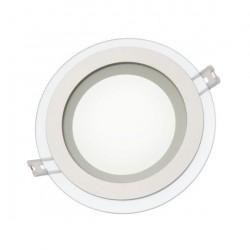 LED FIALE 6W Glas Panel Flach Einbaustrahler Einbau Deckenleuchte Rund 230V