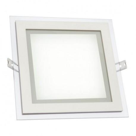 led fiale eco 18w glas panel flach einbaustrahler einbau. Black Bedroom Furniture Sets. Home Design Ideas