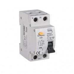 Fehlerstromschutzschalter mit Überstromschutzeinrichtung KRO6-2/B6/30 Kanlux 23220