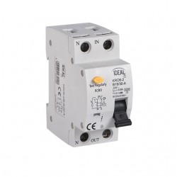 Fehlerstromschutzschalter mit Überstromschutzeinrichtung KRO6-2/C16/30 Kanlux 23217