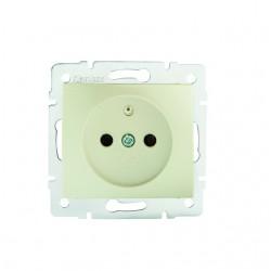 Netzanschluss, einfach, französisch, Kontaktsicherung DOMO 01-1250-230 pe Kanlux 27188
