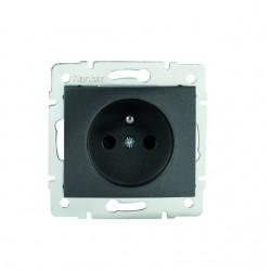 Netzanschluss, einfach, französisch, Kontaktsicherung DOMO 01-1250-241 gr Kanlux 27189