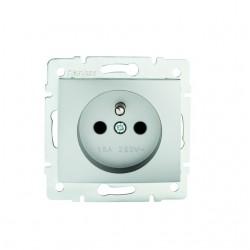 Netzanschluss, einfach, französisch, Kontaktsicherung DOMO 01-1250-243 sr Kanlux 27190