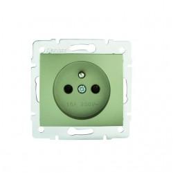 Netzanschluss, einfach, französisch, Kontaktsicherung DOMO 01-1250-250 sz Kanlux 27191