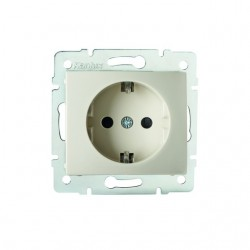Netzanschluss, einfach, französisch, Kontaktsicherung DOMO 01-1240-203 kr Kanlux 27199
