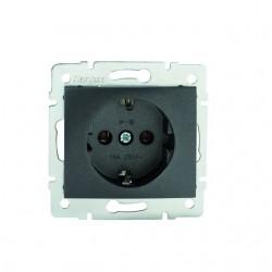 Netzanschluss, einfach, französisch, Kontaktsicherung DOMO 01-1240-241 gr Kanlux 27201