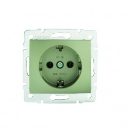 Netzanschluss, einfach, französisch, Kontaktsicherung DOMO 01-1240-250 sz Kanlux 27203